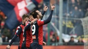 Genoa-Cagliari, 4 infortuni in 53'. Pandev entra e decide l'incontro
