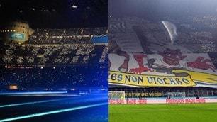 Inter-Milan, il derby delle coreografie a San Siro