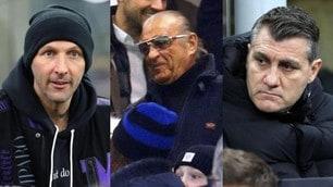 Inter-Milan, da Vieri a Materazzi e Tony Renis: tanti vip in tribuna