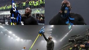 L'esultanza show di Lukaku dopo il gol nel derby