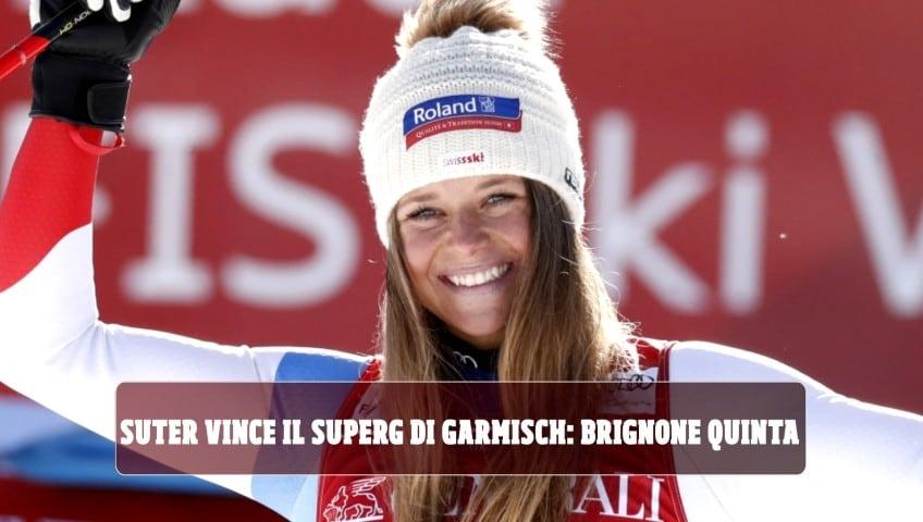 Suter vince superG di Garmisch: Brignone quinta