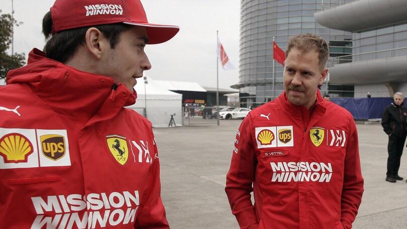 F1 Ferrari, Vettel e Leclerc in pista domani al Mugello