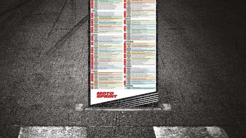Motosprint, in regalo il Poster Calendario del 2020