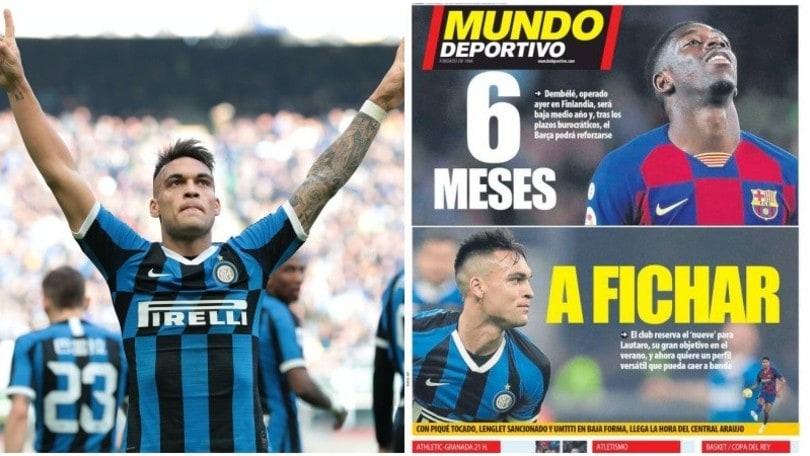 """""""Inter, il Barcellona insiste per Lautaro Martinez: assalto in estate"""""""