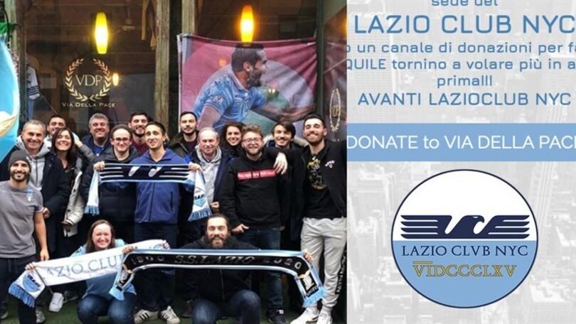 Lazio Club New York, donazioni da record: in meno di 24 ore raccolti 9mila euro