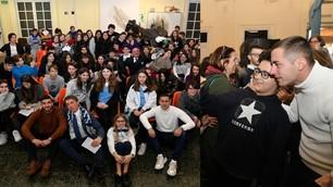 Lazio nelle scuole: Cataldi e Marusic tra sorrisi e selfie