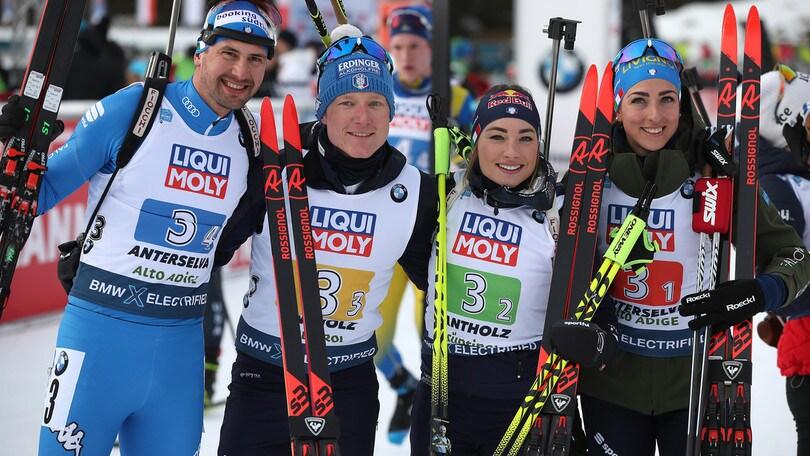 Mondiali biathlon, l'Italia è d'argento nella staffetta mista