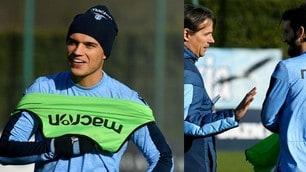 Lazio-Inter, i biancocelesti a lavoro tra sorrisi e concertazione