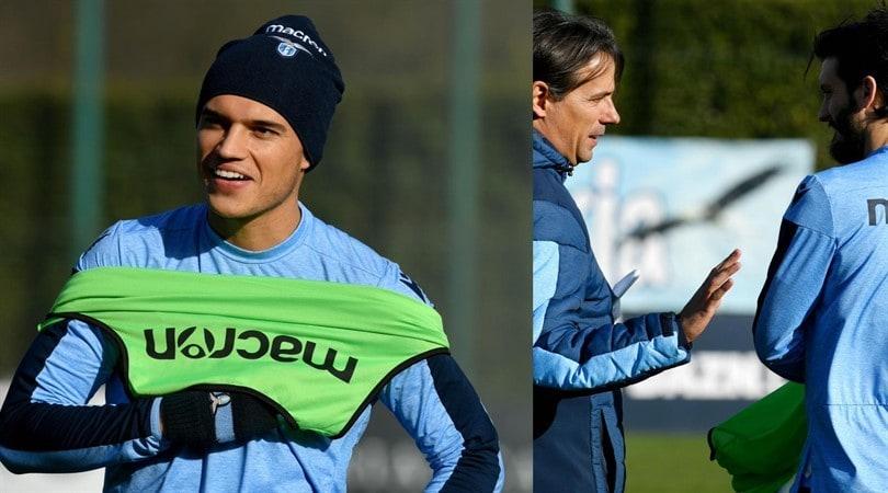 Lazio-Inter, i biancocelesti a lavoro tra sorrisi e concentrazione