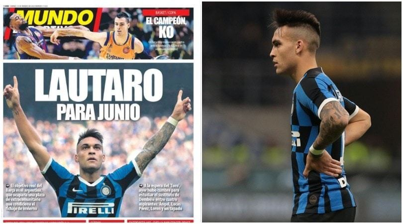 """""""Inter, su Lautaro Martinez duello Real-Barcellona"""""""