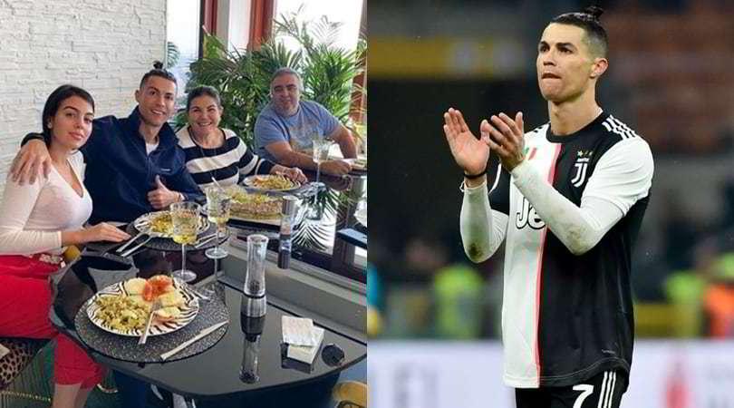 Juve, Ronaldo pranza con Georgina e la mamma Dolores