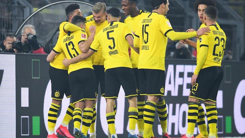 Bundesliga, Haaland ancora in gol col Dortmund. 64' per Emre Can