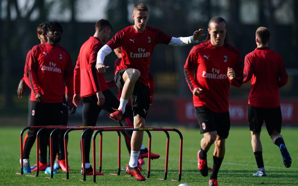 Milan al lavoro per la gara contro il Torino