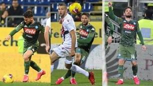 Capolavoro Mertens: il Napoli passa a Cagliari e si avvicina all'Europa