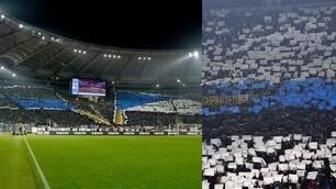 Lazio-Inter, spettacolo delle coreografie per celebrare il gemellaggio