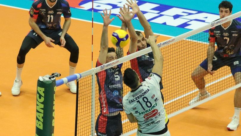 Superlega, Perugia e Lube a braccetto, Modena espugna Trento