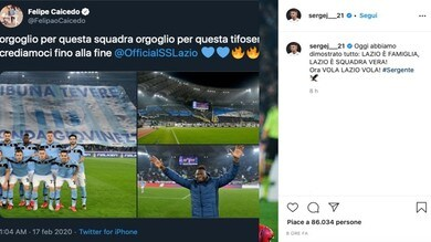 Lazio-Inter 2-1: da Milinkovic ad Acerbi, super festa sui social