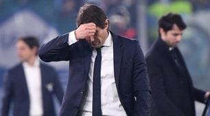 Conte si inchina alla Lazio: che smorfie all'Olimpico!