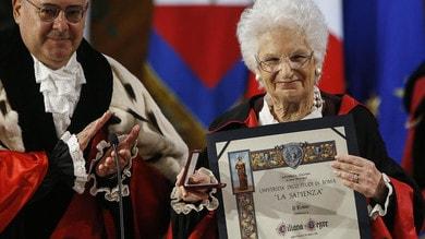 Liliana Segre riceve la laurea honoris causa in Storia dell'Europa alla Sapienza