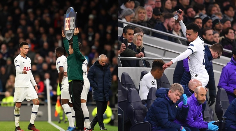 Tottenham-Lipsia: Mourinho sostituisce Dele Alli, lui esplode