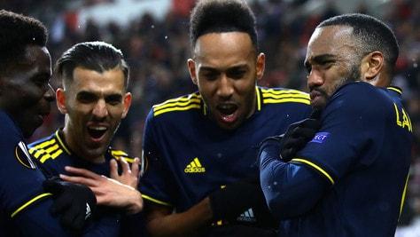 Europa League: Lacazette lancia l'Arsenal, Ajax ko con il Getafe, che rimonta dei Rangers