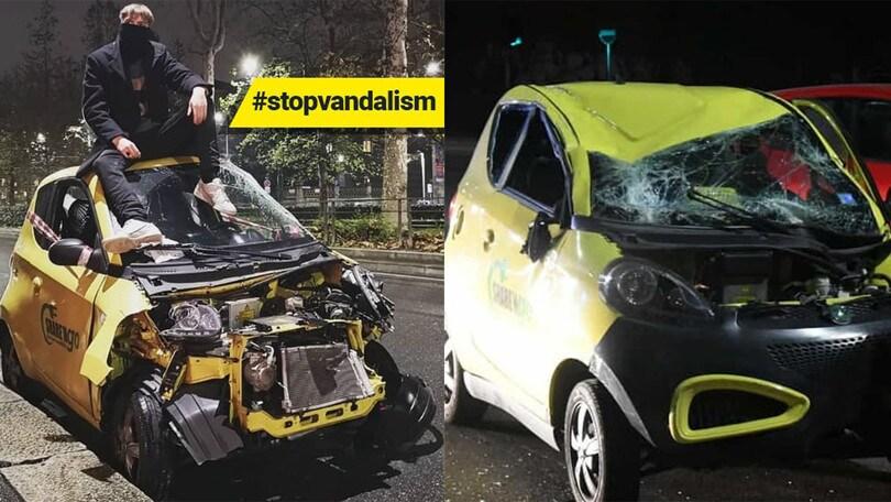 Sharengo, stop a Milano per vandalismo e conti in rosso