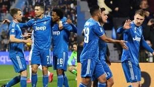 Juve: Cristiano Ronaldo show e record, che gol di Ramsey! Spal ko