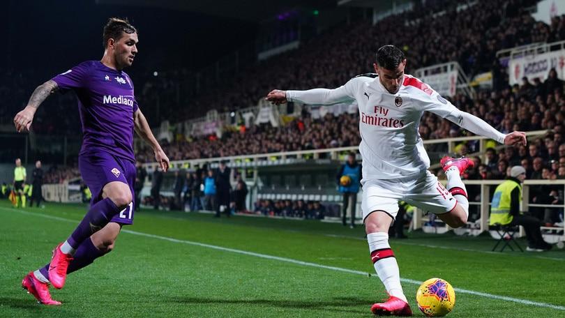 Fiorentina-Milan 1-1, il tabellino