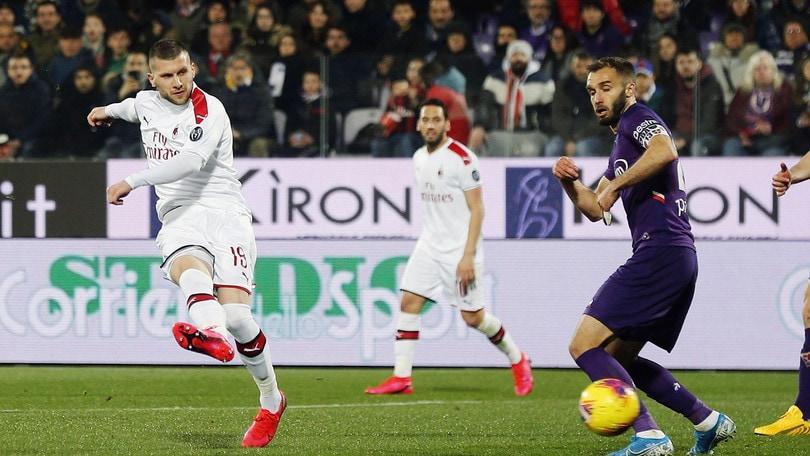 Fiorentina-Milan 1-1: Rebic illude, Pulgar rovina la festa a Pioli. Donnarumma ko