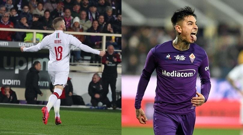 Milan, segna ancora Rebic! Pulgar salva la Fiorentina