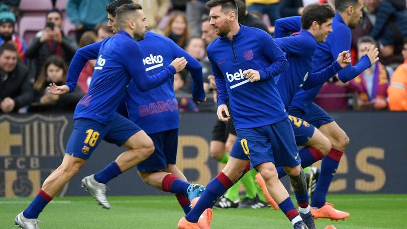 Coronavirus: Napoli-Barcellona, check medico per Messi e compagni