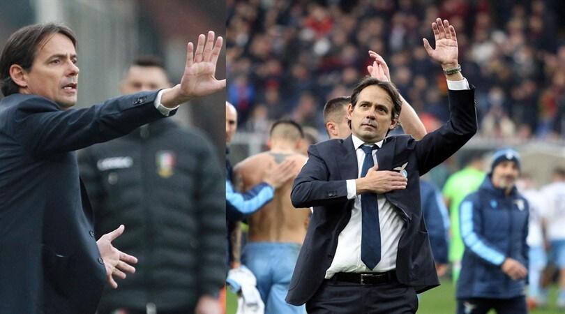 Genoa-Lazio, Inzaghi scatenato in partita: poi l'abbraccio finale con i tifosi