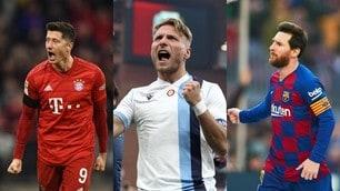 Scarpa d'Oro: Lewandowski accorcia su Immobile, Messi entra nella top 10
