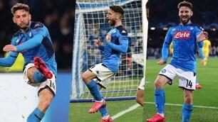 Mertens sblocca Napoli-Barcellona e aggancia Hamsik: l'esultanza è particolare