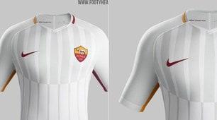 Roma, le prime immagini della seconda maglia 2020/21