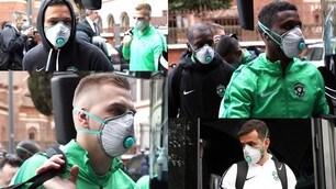 Allarme Coronavirus: il Ludogorets a Milano con le mascherine