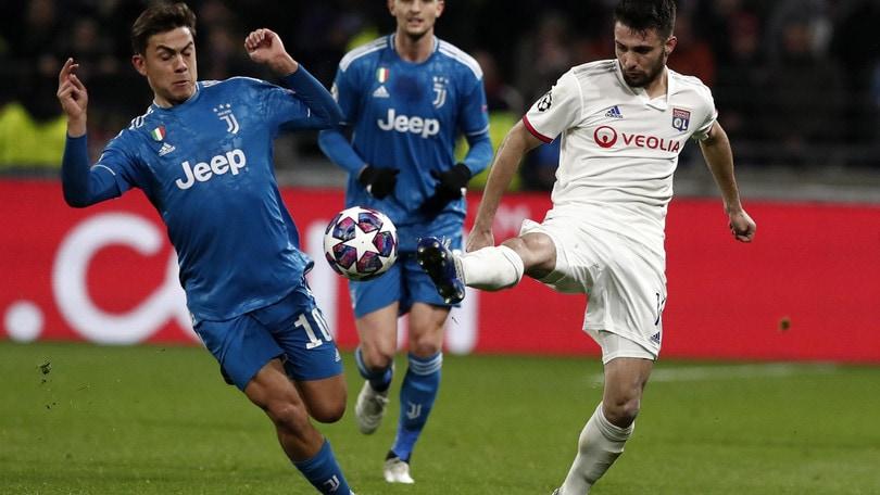 Champions League Lione-Juve 1-0, il tabellino
