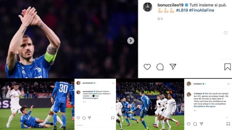 Juve ko contro il Lione: da Cristiano Ronaldo a Dybala, la reazione sui social