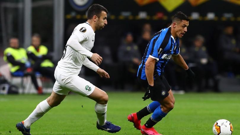 Europa League Inter-Ludogorets 2-1, il tabellino