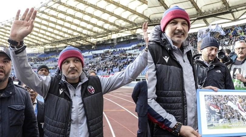 Lazio-Bologna, Mihajlovic sotto la Curva Nord