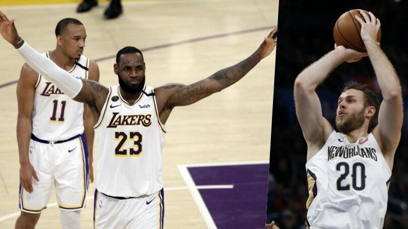 Nba: LeBron James stende i Pelicans di Melli, Antetokounmpo trascina Milwaukee