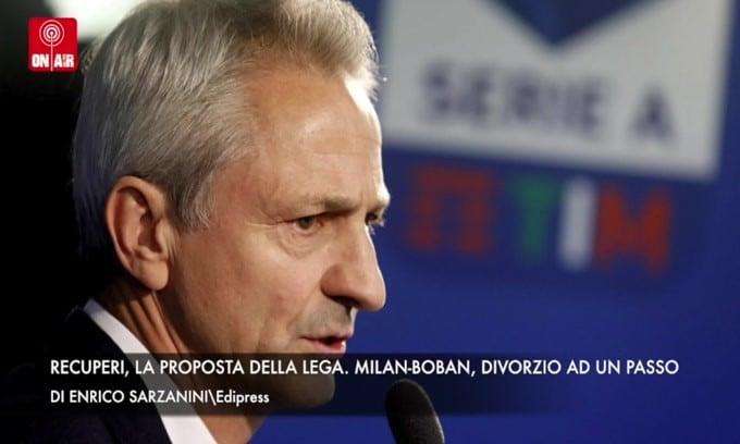 Recuperi, la proposta della Lega. Milan-Boban, divorzio ad un passo