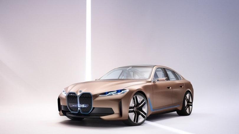 BMW i4 Concept, l'auto elettrica secondo la Casa di Monaco