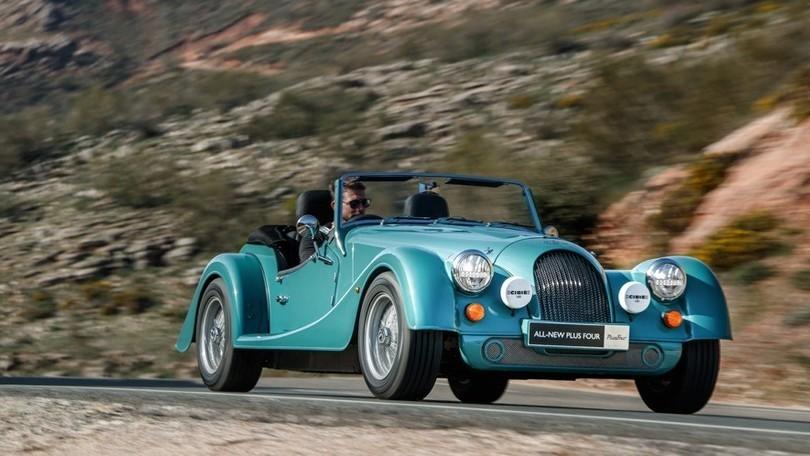 Morgan Plus Four, roadster vintage con il turbo BMW