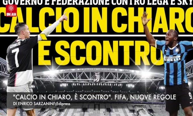"""""""Calcio in chiaro, è scontro"""". Fifa, nuove regole"""