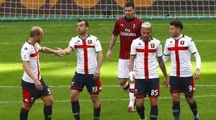 Il Milan crolla nel silenzio di San Siro: 2-1 Genoa