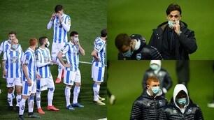 Calcio e coronavirus: il Pescara a Benevento con le mascherine