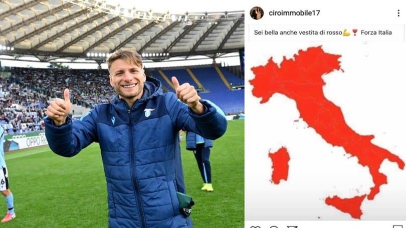 """Lazio, Immobile: """"Forza Italia, ci rialzeremo"""""""