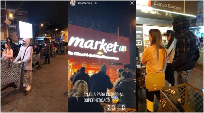 Napoli: Callejon, Ospina e Llorente in fila nella notte al supermercato