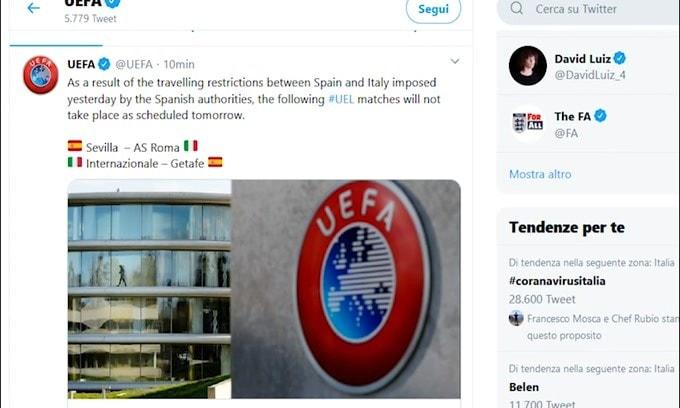 Ufficiale: Inter-Getafe è stata rinviata